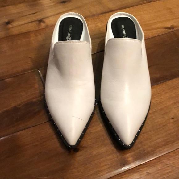 Treasure & Bond Shoes - Treasure & bond white mules . 2.5 inch heels